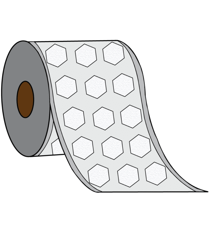 3 UP Label - 3 Labels Across the Roll